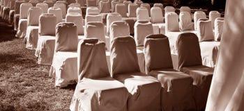 Filas de sillas. Imágenes de archivo libres de regalías