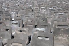 Filas de sillas en perspectiva Fotos de archivo