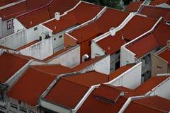 Filas de tejados al ángulo Imagen de archivo