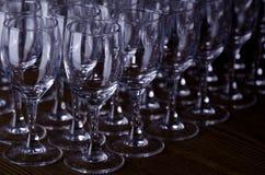 Filas de vidrios foto de archivo libre de regalías
