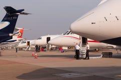 Filas del jet del negocio Foto de archivo libre de regalías