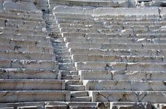 Filas del teatro antiguo en Plovdiv Imagenes de archivo