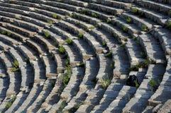 Filas del teatro en Ephesus Imagen de archivo libre de regalías