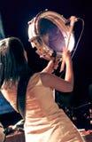 Filastine perform in night concert Bali Spirit Festival. stock image