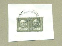 Filatelistisk post- stämpel av Indien royaltyfri bild