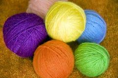 Filati di lana Fotografie Stock