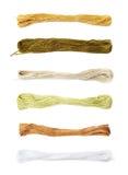 Filato del filo del ricamo isolato Fotografie Stock Libere da Diritti