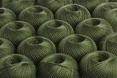 Filato dell'oliva del fondo Immagini Stock