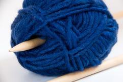 Filato di lana di lavoro a maglia Fotografia Stock Libera da Diritti