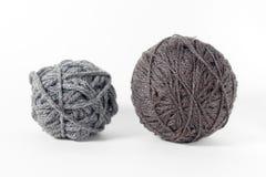 Filato di lana isolato su fondo bianco Fotografia Stock Libera da Diritti