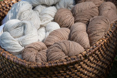 Filato di lana, lana dell'alpaca Immagini Stock Libere da Diritti