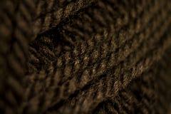 Filato di lana nero per tricottare Fotografie Stock