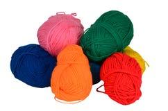 Filato di lana per fatto a mano Fotografia Stock Libera da Diritti