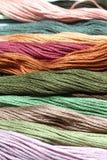 Filato multicolore Fotografia Stock