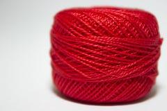 Filato rosso Immagini Stock