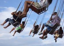 Filatore nel parco di divertimenti Fotografia Stock