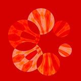 Filatore rosso artistico astratto illustrazione vettoriale