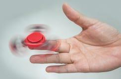 Filatore rosso della mano Fotografia Stock Libera da Diritti