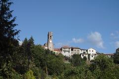 Filattiera, Lunigiana, Italy. Hilltop village. Stock Image