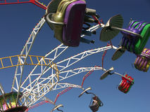 Filatura del Merry-go-round Fotografie Stock