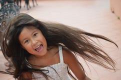 filatura della bambina Fotografie Stock