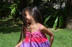 filatura della bambina Immagini Stock