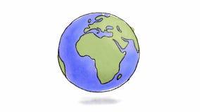 Filatura disegnata a mano della terra illustrazione di stock