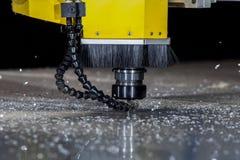 Filatura tagliando il macchinario del laser Fotografia Stock Libera da Diritti