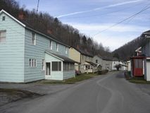 Filbert coal camp. Former U.S. Steel company town of Filbert in McDowell County, W.Va Stock Photos