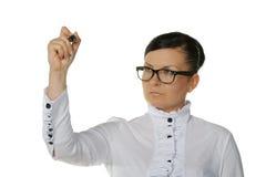filc pióra kobieta Zdjęcia Stock