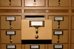 File. In a library Stock Photo