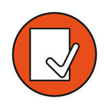 File accept button. Simple flat file accept button icon vector Royalty Free Stock Photography