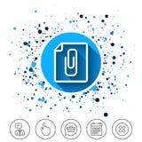 File annex icon. Paper clip symbol. Stock Image