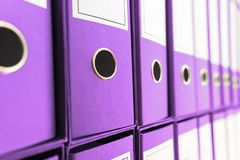 File archive , Ring Binders. Business administration royalty free stock images