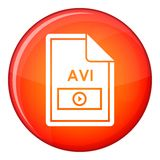 File AVI icon, flat style Royalty Free Stock Image