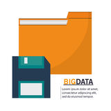 File and big data design. File and diskette icon. Big data center base and information theme. Colorful design. Vector illustration Stock Photo