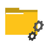 File and big data design. File and gears icon. Big data center base and information theme. Colorful design. Vector illustration Royalty Free Stock Image