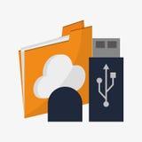 File and big data design Royalty Free Stock Photos