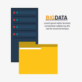 File and big data design. File and webs hosting icon. Big data center base and information theme. Colorful design. Vector illustration Royalty Free Stock Photos