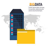 File and big data design Royalty Free Stock Photography