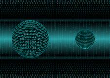 File binario astratto del fondo geometrico; concetto di dati di tecnologie informatiche grande Fotografia Stock Libera da Diritti