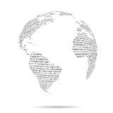 File binario del mondo dell'America Immagine Stock Libera da Diritti