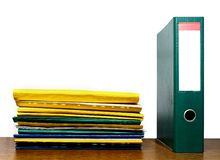 File binder and folders Royalty Free Stock Image