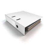 File binder lying. Rendered file or ring binder lying on white background Royalty Free Stock Photo