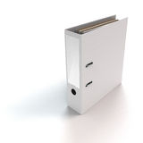 File binder standing. Rendered file or ring binder standing on white background Stock Photos