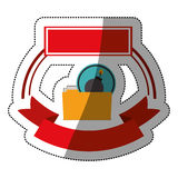 File bomb and security system design. File and bomb icon. Security system warning protection and danger theme.  design. Vector illustration Stock Image