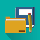 File book and pencil of office and work design Stock Image
