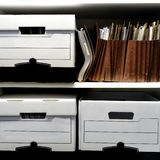 File Boxes on Shelf Stock Photos
