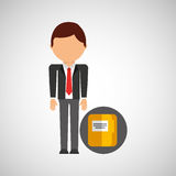 File business man suit worker icon. Vector illustration eps 10 Stock Photos