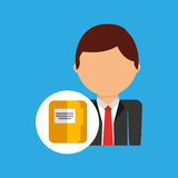 File business man suit worker icon. Vector illustration eps 10 Royalty Free Stock Photography